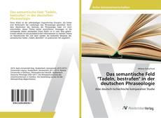 """Das semantische Feld """"Tadeln, bestrafen"""" in der deutschen Phraseologie kitap kapağı"""