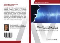 Обложка Phonetik im integrativen Deutschunterricht