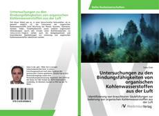 Bookcover of Untersuchungen zu den Bindungsfähigkeiten von organischen Kohlenwasserstoffen aus der Luft