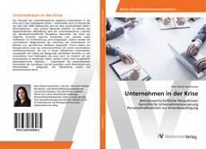 Capa do livro de Unternehmen in der Krise