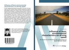 Bookcover of Influence of basic environmental characteristics on driving speed