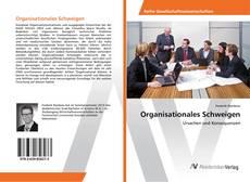 Buchcover von Organisationales Schweigen