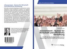 eGovernment - Nutzen für Wirtschaft und öffentliche Verwaltung kitap kapağı