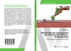 Capa do livro de Effektivität der Osteopathie bei chronischer Achilles-Tendinopathie
