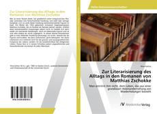 Обложка Zur Literarisierung des Alltags in den Romanen von Matthias Zschokke