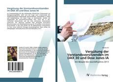 Bookcover of Vergütung der Vorstandsvorsitzenden im DAX 30 und Dow Jones IA