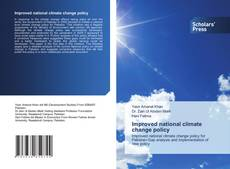 Обложка Improved national climate change policy