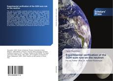 Bookcover of Experimental verification of the GDH sum rule on the neutron