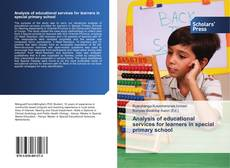 Обложка Analysis of educational services for learners in special primary school