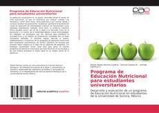 Portada del libro de Programa de Educación Nutricional para estudiantes universitarios