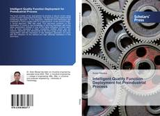 Bookcover of Intelligent Quality Function Deployment for Preindustrial Process