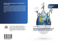 Bookcover of Design and Implementation of Social Website for all people