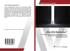 """Bookcover of """"Die stille Revolution"""""""