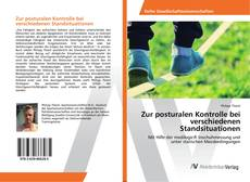 Bookcover of Zur posturalen Kontrolle bei verschiedenen Standsituationen