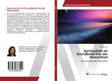 Spiritualität als Grundbedürfnis der Menschheit的封面