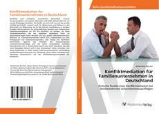 Bookcover of Konfliktmediation für Familienunternehmen in Deutschland