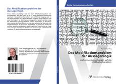 Bookcover of Das Modifikationsproblem der Aussagenlogik