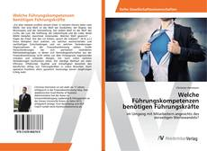 Portada del libro de Welche Führungskompetenzen benötigen Führungskräfte