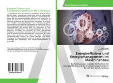 Обложка Energieeffizienz und Energiemanagement im Maschinenbau