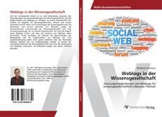 Bookcover of Weblogs in der Wissensgesellschaft