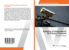 Capa do livro de Analysis of Antecedents to Privacy Concerns