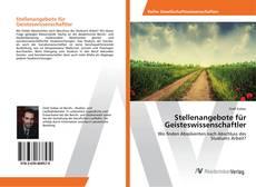 Buchcover von Stellenangebote für Geisteswissenschaftler