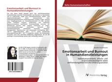 Bookcover of Emotionsarbeit und Burnout in Humandienstleistungen