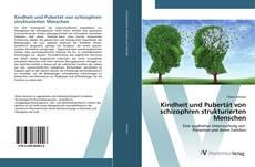 Обложка Kindheit und Pubertät von schizophren strukturierten Menschen