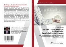 Portada del libro de Resilienz – das Resultat individueller Persönlichkeitsfaktoren
