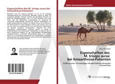 Bookcover of Eigenschaften des M. triceps surae bei Kniearthrose-Patienten