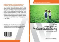 Buchcover von Bewertung der Sozialkompetenz im Rahmen der Personalrekrutierung