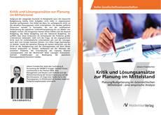 Portada del libro de Kritik und Lösungsansätze zur Planung im Mittelstand