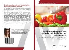 Portada del libro de Ernährungstherapie von bariatrischen Patienten im Reha-Bereich