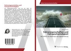 Fahrereigenschaften und Fahrgeschwindigkeit的封面