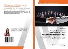 Buchcover von Maßnahmen zur Verbesserung der Mitarbeiterzufriedenheit