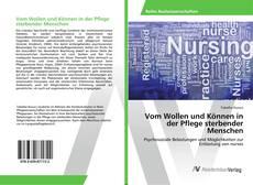 Capa do livro de Vom Wollen und Können in der Pflege sterbender Menschen