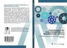 Buchcover von Erwartungen der Industriebetriebe an Metalltechnik-Lehrling