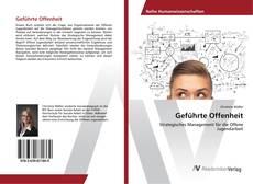 Portada del libro de Geführte Offenheit