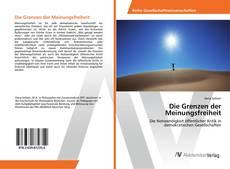 Capa do livro de Die Grenzen der Meinungsfreiheit