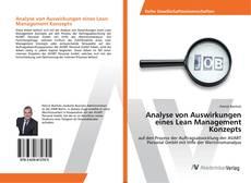 Обложка Analyse von Auswirkungen eines Lean Management Konzepts