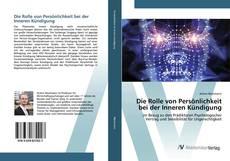 Capa do livro de Die Rolle von Persönlichkeit bei der Inneren Kündigung