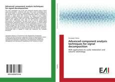 Portada del libro de Advanced component analysis techniques for signal decomposition