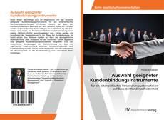 Bookcover of Auswahl geeigneter Kundenbindungsinstrumente
