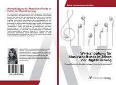 Buchcover von Wertschöpfung für Musikschaffende in Zeiten der Digitalisierung