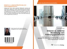 Capa do livro de Interne vs. externe Besetzung von Führungspositionen