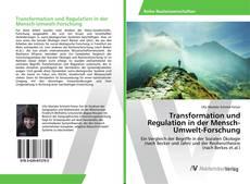 Transformation und Regulation in der Mensch-Umwelt-Forschung kitap kapağı