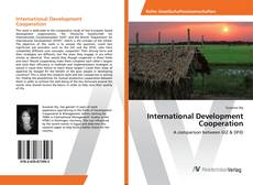 Buchcover von International Development Cooperation