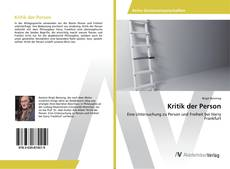 Bookcover of Kritik der Person