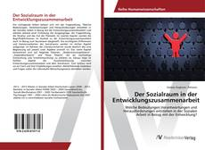 Bookcover of Der Sozialraum in der Entwicklungszusammenarbeit