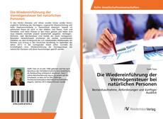 Buchcover von Die Wiedereinführung der Vermögensteuer bei natürlichen Personen